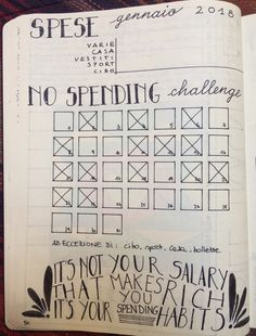 No spending challenge Challenge 24, Getting Organized, Bullet Journal, Organization, Math, Words, Organisation, Math Resources, Tejidos