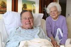 President George H. Bush will be moved out of the intensive care unit at Houston Methodist Hospital and Mrs. Barbara Bush was released Monday, according to their doctors. Barbara Bush, American Presidents, Us Presidents, Georg Bush, Hw Bush, Bush Family, Nancy Reagan, Still In Love, Former President