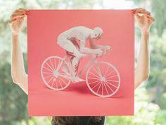 New Olympic Athletes Crafted from Layered Paper by Raya Sader Bujana