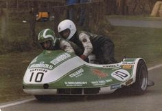 Malcolm WHITE - British GP Sidecars 10 August 1980, Silverstone. Killed after colliding with the sidecar of Yvan Trolliet going into Woodcote Corner