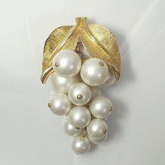 Vintage Park Lane brooch gold tone faux by GregDeMarkJewelry, $22.00