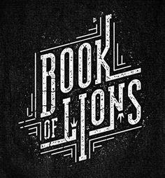 Book of Lions #design #type #logo