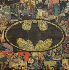 Artist Turns Comic Books Into Awesome Collages Batman Batman Comic Books, Comic Books Art, Comic Art, Book Art, Batman Wallpaper, Batman Logo, Batman Art, Batman Spiderman, Lego Batman
