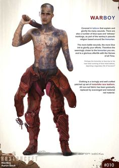 The Art of Mad Max: Fury Road by Weta Workshop Cyberpunk Rpg, Cyberpunk Character, Character Concept, Character Art, Character Design, Mad Max Costume, Apocalypse Character, Science Fiction, Apocalypse World