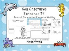 Fish & Friends are learning about ocean animals. Help them by completing tree maps, labeling pictures and writing facts about animals in your own research journal. Use your own books and databases.Includes worksheets for octopus, whale, dolphin, shark, sea horse, crab & sea turtlesIncludes fact sheets for teachers use.