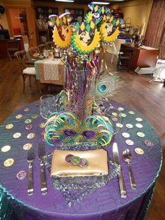 Mardi Gras table!