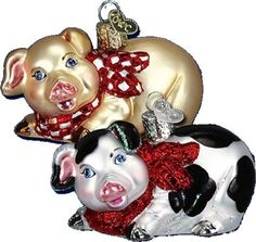 Country Pig Ornament