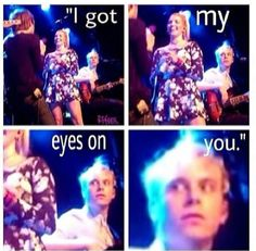 Haha! He's watching you ratliff. Way to be a protective big brother!!!