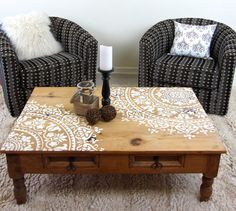 Learn how to stencil a wood table using the Prosperity Mandala Stencil from Cutting Edge Stencils. http://www.cuttingedgestencils.com/prosperity-mandala-stencil-yoga-mandala-stencils-designs.html