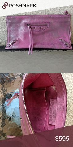 Balenciaga Paris Pink Clutch Mint Condition Never Used. Fits alot of stuff. Extremely soft buttery leather. Paris made...*******VERY special for a stylish and cool breast cancer survivor Mom on Mother's Day! Thank the good Lord!!********* Balenciaga Bags Clutches & Wristlets