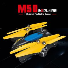 Altitude Hold Foldable RC Drone M50 Remote Control toys can with WIFI camera 2.4GHZ 6 Axis gyro Headless rc Quadcopter toys gift