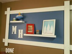 {The UNDONE Blog} DIY an awesome display with moulding and MDF! You can take this down and move it anywhere in your house!