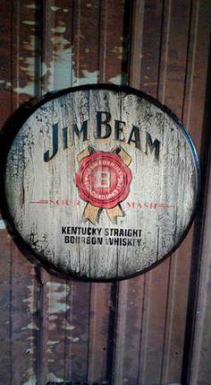 jim beam barrel table and devil on pinterest authentic jim beam whiskey barrel table