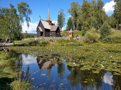 Maihaugen open-air museum outside of #Oslo is one of the premiere places in Norway to learn about Norwegian culture and history. Plus it's absolutely gorgeous don't you think? Photo by @fotoknoff #lillehammer #garmostavechurch #maihaugen #osloregion #norway