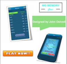 Keep your mind sharp with #MOMemorygame. Play this mind game developed  by John oshodi to improve your IQ level and challenge your friends in any game
