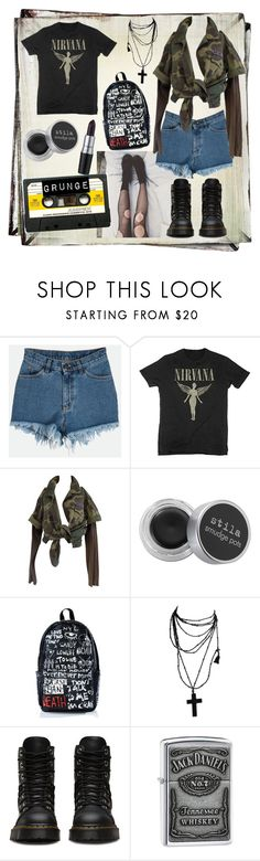 """""""The Grunge Years"""" by ladydelirium ❤ liked on Polyvore featuring M.A.C, Stila, Haculla and Zippo"""