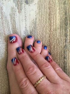 Cruise Nails, Vacation Nails, July 4th Nails Designs, Nail Designs, Pedicure Colors, Nail Colors, Pedicures, Manicure And Pedicure, Beauty Tips