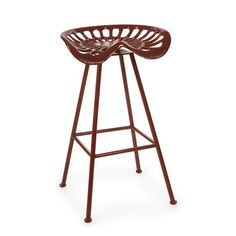 Leroy Cherry Red Tractor Seat Stool Imax Bar Height (28 To 36 Inch) Bar Stools…