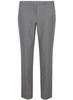Grey textured straight leg