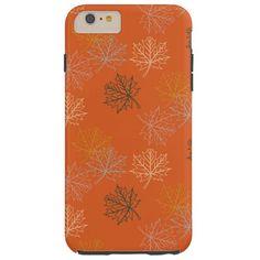Retro Thanksgiving Fall Autumn Leaves Tough iPhone 6 Plus Case