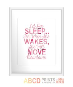 Baby girl nursery quote print Let Her Sleep... For by MiraDoson, $11.00
