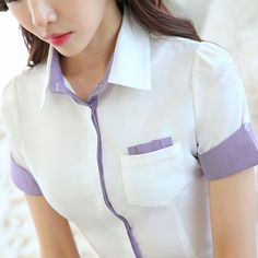Blouses for women – Lady Dress Designs Corporate Shirts, Corporate Attire, Button Up Shirt Womens, Uniform Shirts, Work Tops, African Fashion Dresses, Work Attire, Ladies Dress Design, Blouse Designs