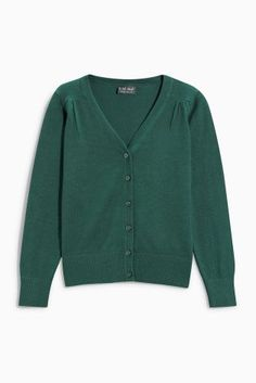 Green V-Neck Cardigan (3-16yrs)