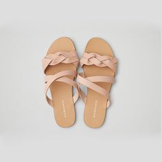Bass Scarlett Sandal by American Eagle Outfitters Shoes Flats Sandals, Pink Sandals, Cute Sandals, Pink Shoes, Cute Shoes, Girls Shoes, Wedge Shoes, Me Too Shoes, Flat Sandals
