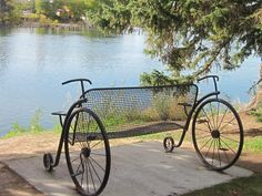 Idaho Falls, Idaho Greenbelt Art Bench - Bicycle for Two is what I call it