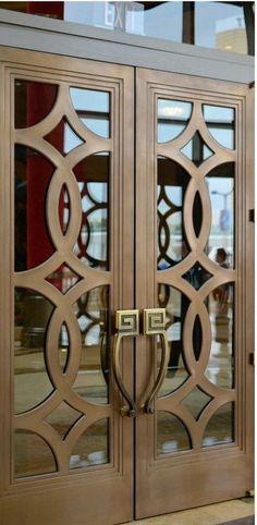 18 Elegant Double Doors Designs for Your Classy Home House Gate Design, Door Gate Design, Front Door Design, Wooden Main Door Design, Double Door Design, Decoration Hall, Window Grill Design, Modern Door, Modern Gates