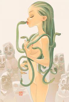 Las sexy ilustraciones de Otto Schmidt