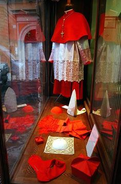 The members of the College of Cardinals wear scarlet, a shade of red, to signify their willingness to shed their blood – to die, if necessary, to preserve the Catholic faith.