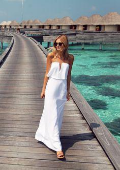 White strapless dress - tuula.