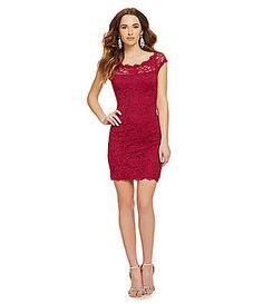 Jump Eyelash Trim Lace Dress #Dillards