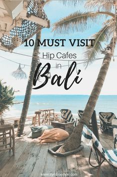 Looking for an Insta-worthy cafes in Bali? Here's a list of MUST VISIT hip and cute cafes or restaurant around Bali.