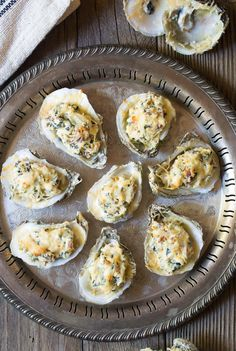 Move over, Oysters Rockefeller and Oysters Mornay! This modernized Three-Cheese Baked Oysters Recipe, in the shell with cheese and bacon, is perfect for the holidays! Smoked Oysters, Grilled Oysters, Seafood Dishes, Seafood Recipes, Gourmet Recipes, Cooking Recipes, Keto Recipes, Cheddar, Recipes