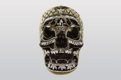 Judith Leiber Bela Laugosi Skull | Silver Jet Multi Classics, Novelty