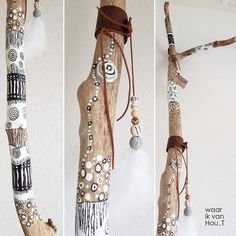 Diy Crafts To Do, Beach Crafts, Diy Arts And Crafts, Painted Driftwood, Driftwood Art, Boho Diy, Bohemian Decor, Driftwood Projects, Stick Art