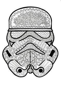 darth vader star wars coloring page adult coloring by paperbro adult coloring therapy. Black Bedroom Furniture Sets. Home Design Ideas