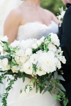 Spring White & Green Bridal Bouquet  Christine Pienaar Photography