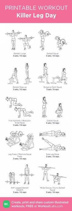 Try this killer leg day workout! Try this killer leg day workout! Leg Day Workouts, Strength Training Workouts, Training Motivation, Training Plan, Fitness Motivation, Training Exercises, Killer Leg Workouts, Gym Fitness, Fitness Plan
