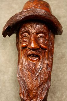 Wood Spirit Wood Carving Christmas Gift for by TreeWizWoodCarvings, $165.00