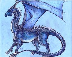 This is something like how I imagine Saphira from Eragon to look like