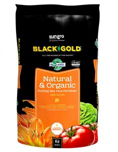 Black Gold Organic Potting Soil - Looking for a high-performing all-natural mix? Black Gold® Natural & Organic Potting Mix is a top choice for outdoor containers and raised beds.