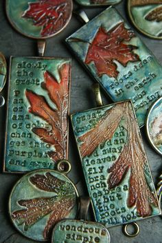 Leaf and alphabet pasta burn off in the kiln...mothers day?