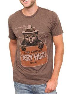 Classic Smokey the Bear fire danger tee  $34  www.junkfoodclothing.com