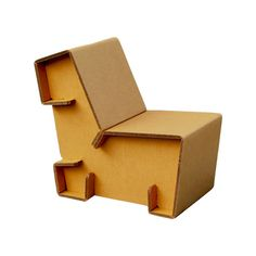 Lounge Chair.  The chairigami original. Simple, elegant, and of course made from cardboard.