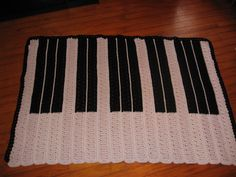 crocheted piano afghan, a pattern I designed