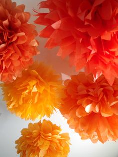 Baby shower Decor ... 6 Poms ... Pick Your Colors by pomtree, $24.00