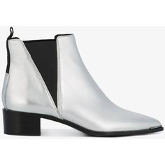 Acne Studios Silver Jensen Chelsea boots (3.440 DKK) ❤ liked on Polyvore featuring shoes, boots, ankle booties, grey, grey ankle boots, grey chelsea boots, ankle boots, silver booties and silver ankle boots